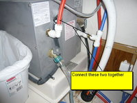Hot water heater before by-pass