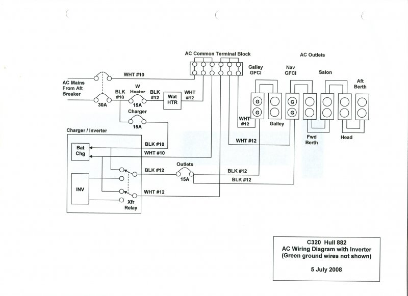 Ac Wiring Diagram With Battery Charger    Inverter  Ac