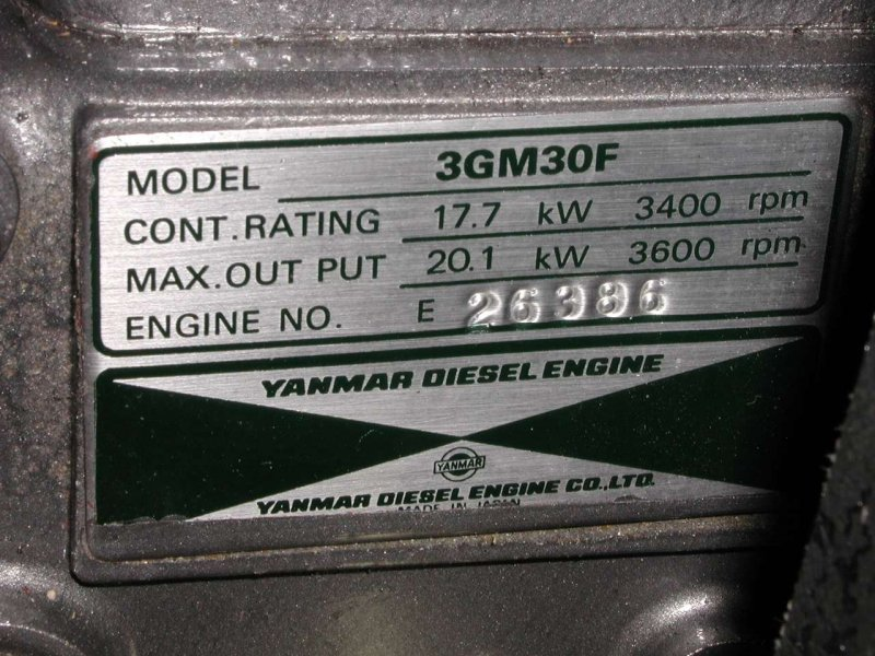 How to tell if you have a European Yanmar  Note the